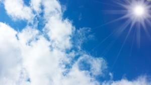 青空と太陽1
